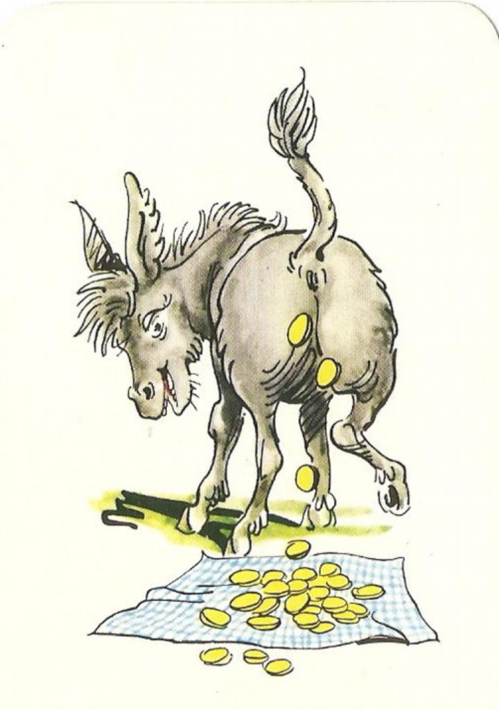 le conte l'âne qui chie de l'or